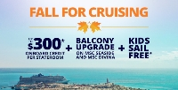 fall for cruising with msc